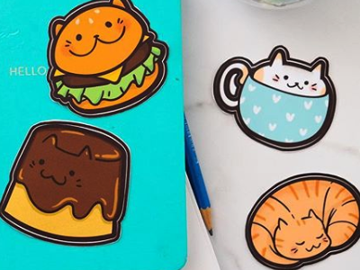Kitty Cafe Stickers