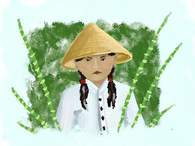 Vietnamese vietnam asian assets asia bamboo vietnamese applepencil ipad procreate ipad pro art ipadpro drawing pencil sketch draw ipad procreate