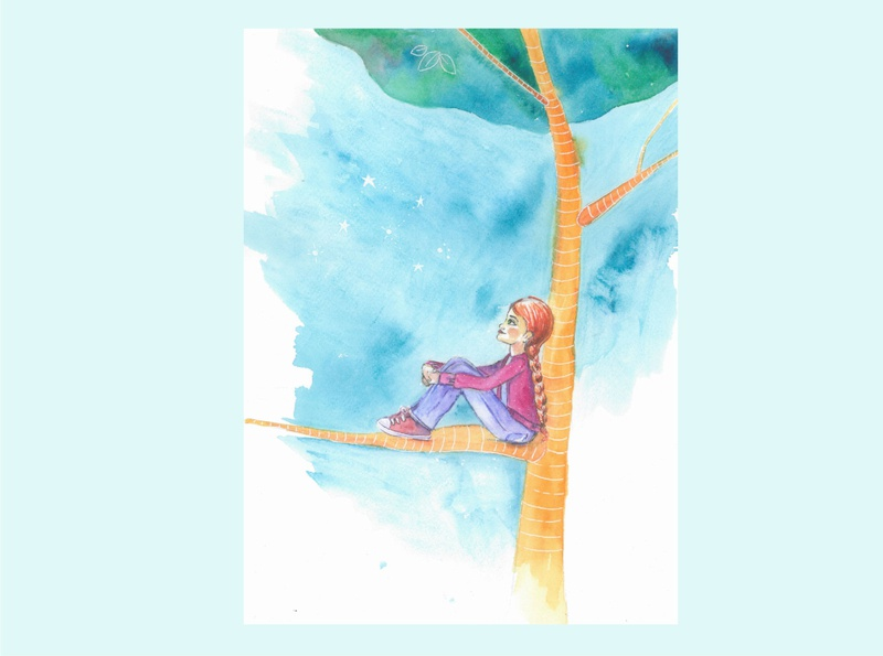 En el árbol watercolour story infantil ilustración illustration cuento childhood book acuarela