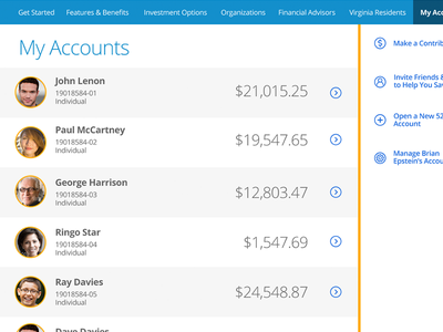 My Accounts intuitive company