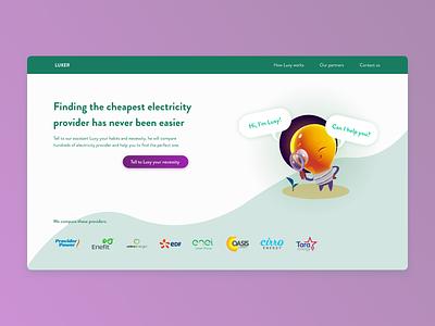 Luxer - Hero Section hero section hero energy green shape site illustration character web design landing homepage