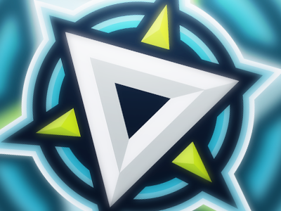 D Logo palette blue green logo d