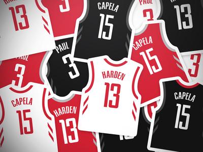Rockets Jersey Stickers