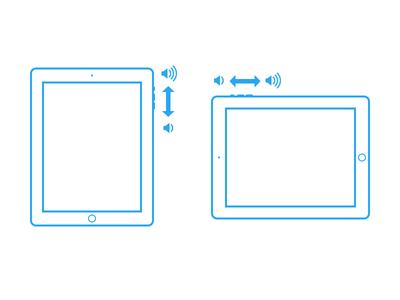 iPad Volume Orientation Adapting