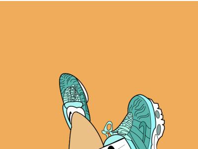 Nike branding design illustration