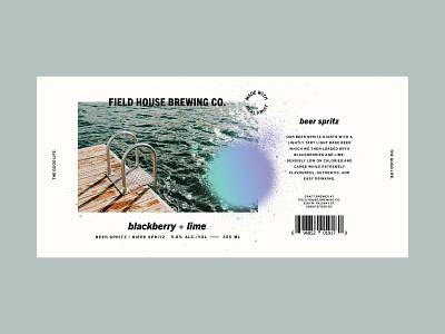 blackberry + lime beer spritz drink packaging hard seltzer brewery branding packaging photography seltzer beer label lime blackberry spritz beer