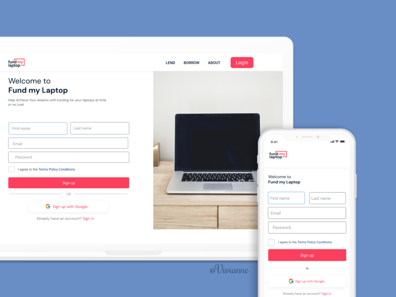 Sign up page design minimal design website ux ui branding
