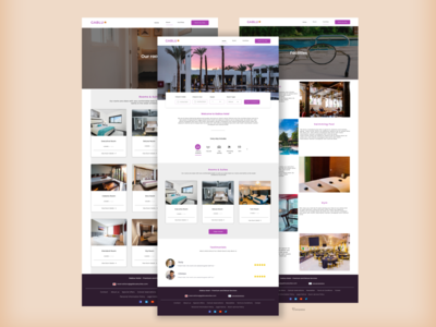A hotel website design ux web minimal design ui