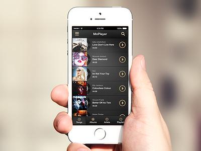Moplayer iphone design music ios7 ui app