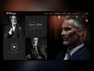 Men's website re-design website