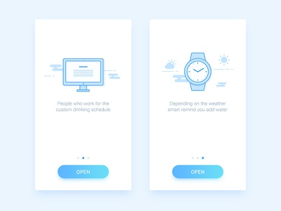 Drink water - Guide pages water ui ios app