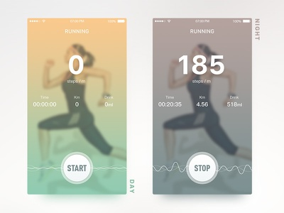 Running and Drinking drink running water ui ios app