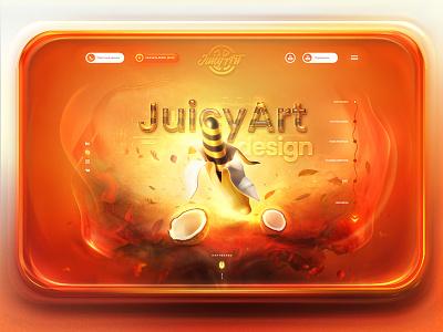 Art Studio Concept Page logo digital art abstract ux ui webdesign website web illustration colors design