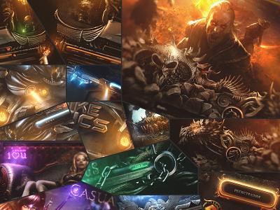 Projects Preview symbol website forum game design games world of warcraft sci-fi antique web site illustration digital art colors ux ui logo design