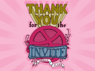 Dribbble Thanks dribbble type line thank you hand lettering hand lettered