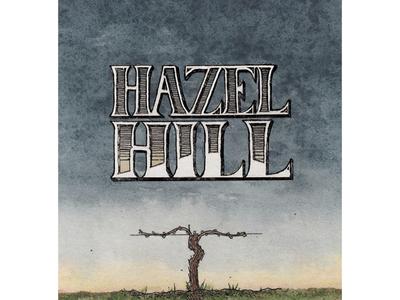 Hazel Hill Wine Label Detail wine label watercolor illustration handlettering food packaging