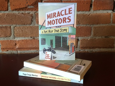 Miracle Motors Book Photo book illustration design lettering book cover