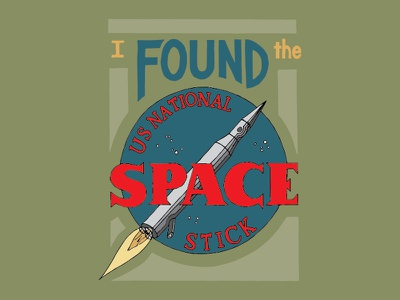 Kid Quote: I Found the US National Space Stick quote lettering illustration space rocket stick kid quotes hand lettering