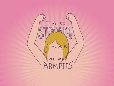 Kid Quote: I'm So Strong! Look at my Armpits