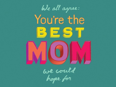 Best Mom Mothers Day Lettering
