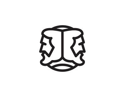 Janus branding vox media vox advertising project aquarium illustration iconography greek mythology janus two heads