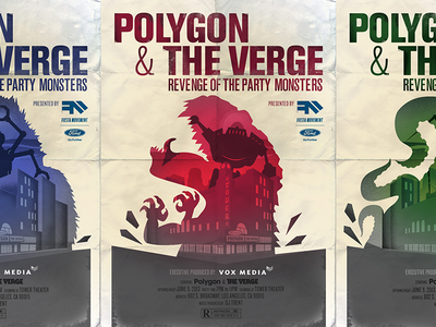 E3 Tryptic vox media e3 event polygon movie poster robots monsters tower theater party the verge ford fiesta