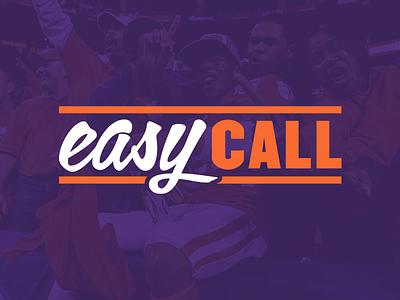 Easy Call Branding design vox media typography easy call branding sports college football vox studio sb nation