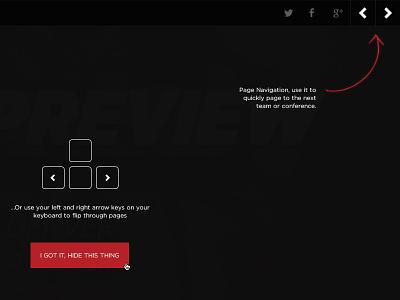 NFL Preview Tool Tip guide ui navigation sticky bar vox media sb nation sports nfl preview tool tip
