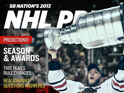 SB Nation's 2013 NHL Preview vox media sb nation nhl cover sports hockey editorial knockout season preview stanley cup