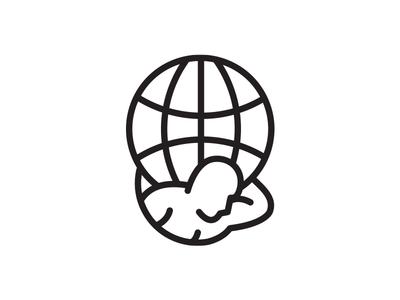 Atlas vox media atlas icon logo branding world globe greek mythology