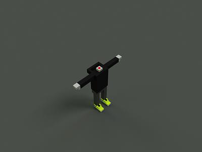 Headless Meebit Study nft character model 3d mincraft metaverse voxelart cryptovoxel meebit