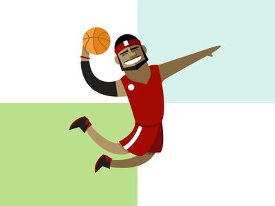 Jump vox media illustration character design lebron jump basketball dunk