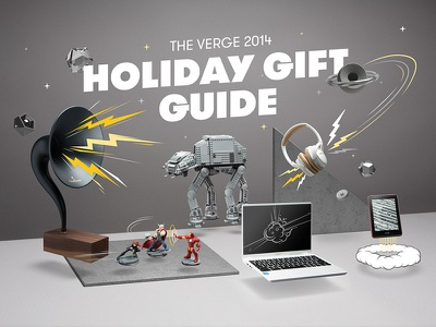 The Verge 2014 Holiday Gift Guide product photography art direction vox media the verge float gt walsheim grilli type e-commerce holiday gift guide illustration