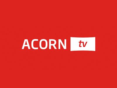 Acorn TV Logo streaming acorn television entertainment wordmark logo identity branding