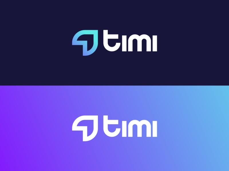 Timi logo analytics identity illustrator logo. branding timi