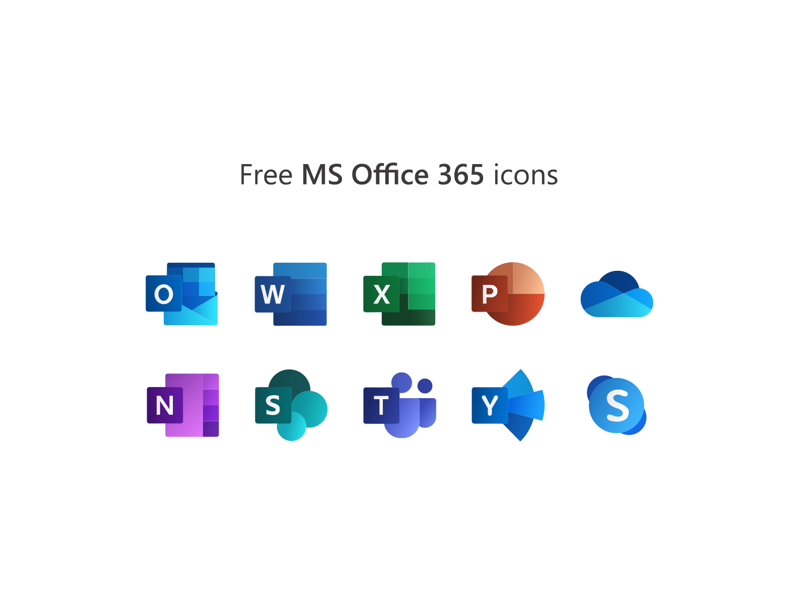 Free Microsoft Office 365 Icons By Mr