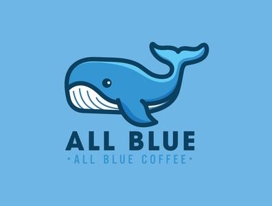 All Blue Coffee Logo by Brandall Agency logo design adobe illustrator logo branding
