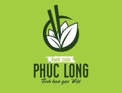 Bánh cuốn Phúc Long Logo by Brandall Agency icon flat vector illustration brandall logo design design adobe illustrator logo branding