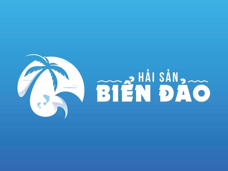 Hải sản Biển Đảo - Island Seafood logo by Brandall Agency icon flat vector illustration brandall logo design design adobe illustrator logo branding
