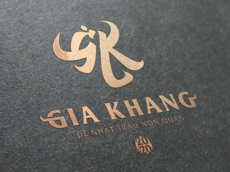 Gia Khang - Đệ Nhất Trâu Non Quán logo by Brandall Agency icon flat vector illustration brandall logo design design adobe illustrator logo branding