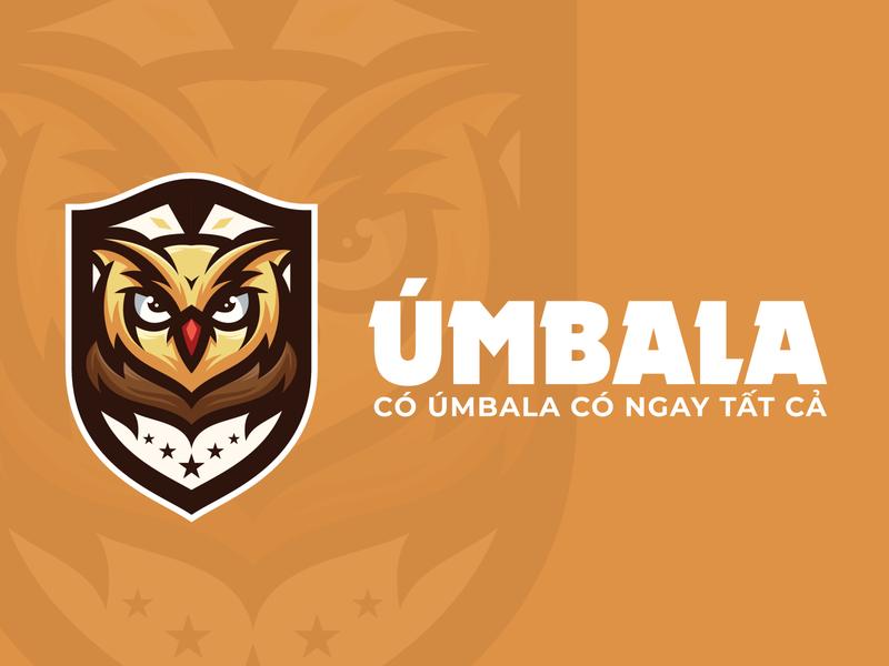 Umbala logo by Brandall Agency animal flat vector brandall illustration owl logo design logo design adobe illustrator branding