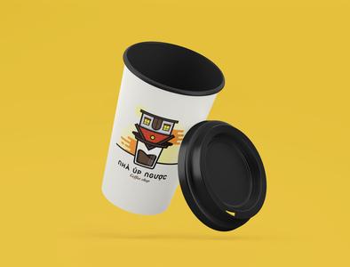 Nhà Úp Ngược Upside Down House Coffee shop by Brandall Agency mockup coffee cup coffeeshop shop coffee upside down upsidedown house brandall logo design logo