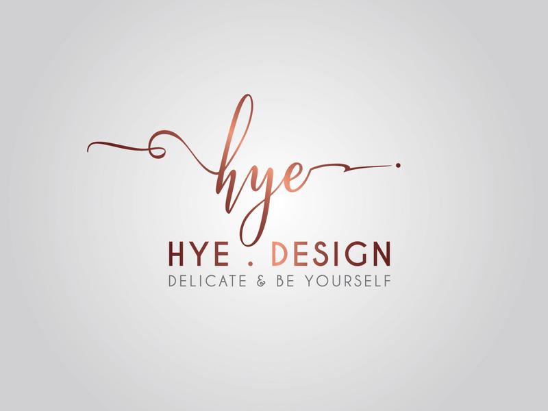 Hye Design Fashion logo by Brandall Agency calligraphy typography adobe illustrator illustration clothing brand clothes clothing soft fashion logo fashion character brandall logo design logo branding
