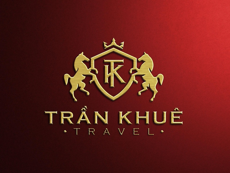 Trần Khuê Travel logo by Brandall Design illustration illustrator logo design logo limousine car double dual dual horses horses horse travel logo traveling tourists tour tourist tourism travelling travel branding