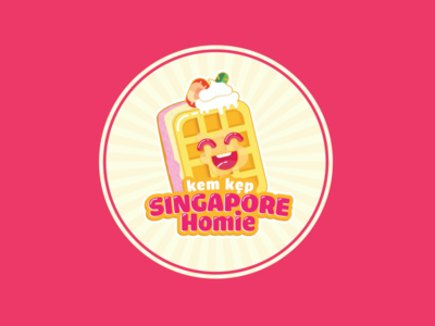 Singapore Homie Cream cake logo by Brandall Agency creamery cartoon chibi vector bakery logo bakery cakes cupcake creamy cream cake ice cream icecream cake cream logo design logo illustration branding