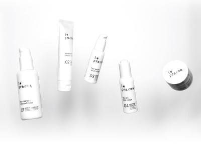 Le Pragma, 5 Step Skincare System black and white extract algae hemp cbd cream serum oil cleanser face skincare