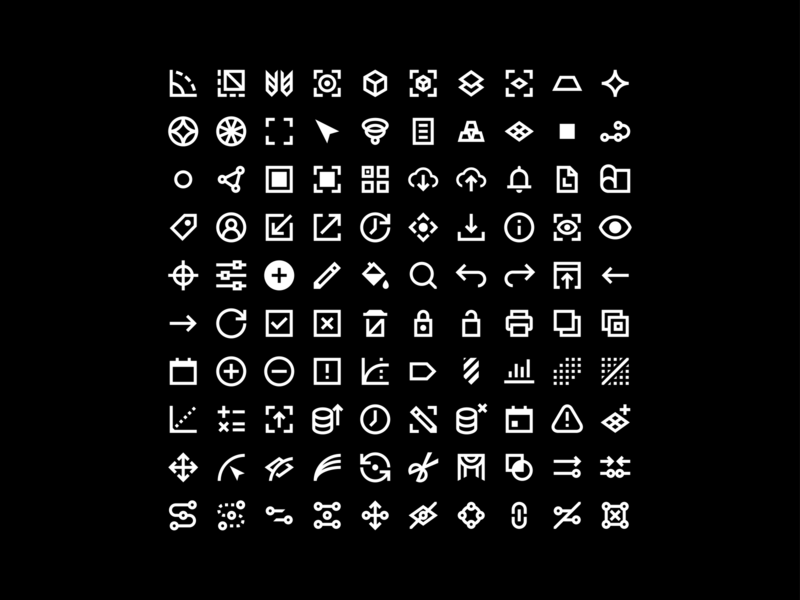 100 Icons google material design iconography icons