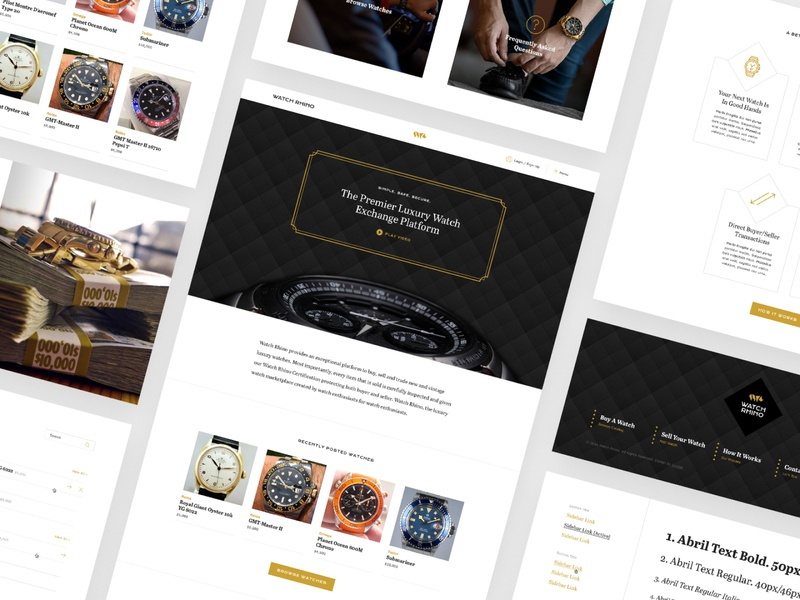 Watch Rhino Web luxury web design ui prototype website web