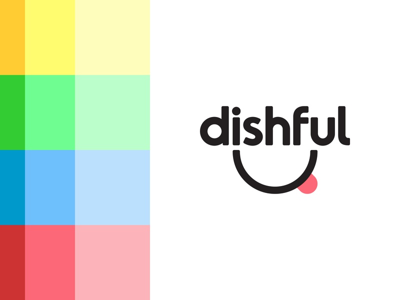 Dishful branding smile logo