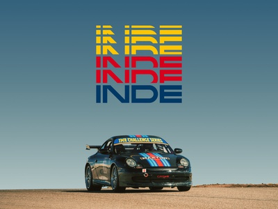 INDE - Accelerate speed inde porsche motorsports racing logo